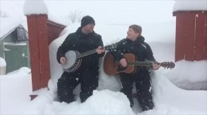 Father-son duo croon distaste for snow after Newfoundland hit with more than 100 cm