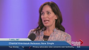 Chantal Kreviazuk performs on the Morning News