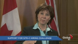Support for Site-C dam hiring challenge