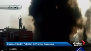 Dozens killed in Pakistan oil tanker explosion