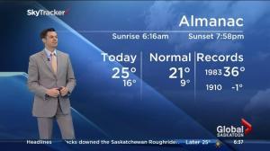 Saskatoon weather outlook – August 31