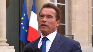 Arnold Schwarzenegger meets with French President