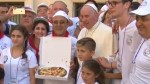 Pope Francis delivers pizza to 1,500 homeless people