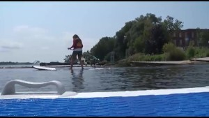 Bill Welychka takes to the water to learn how to Paddleboard.