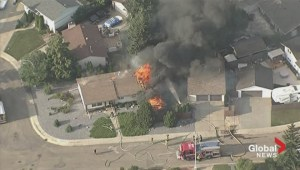 Bird's eye view: Fire in northeast Edmonton