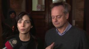 Marc and Jodie Emery leave courthouse after posting bail