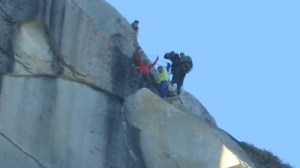 RAW: Free climbers summit El Capitan's Dawn Wall