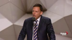 Entrepreneur Peter Thiel says Hillary Clinton's incompetence is 'in plain sight'