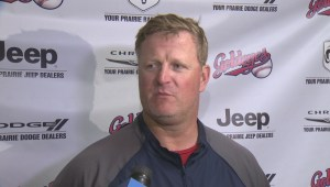Winnipeg Goldeyes Manager Rick Forney
