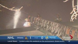 Raw video: Two fires in Montreal on Tuesday night