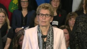 Premier Kathleen Wynne reacts to stabbing at Pickering high school
