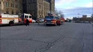 Raw Video: Fire alarm goes off at Parliament Hill early Thursday