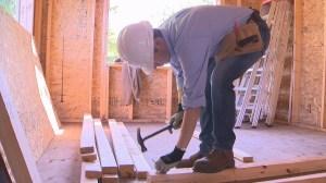 Mayor Bowman helps Habitat build