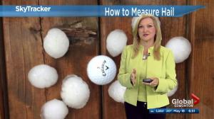 How to measure and report hail to Environment Canada