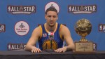 Klay Thompson bests teammate Steph Curry for 3-point title