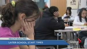 Later school start times