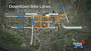 How is Edmonton's downtown bike network doing 1-month in?