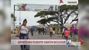 Hundreds of Venezuelans seeking food, medicine cross into Colombia