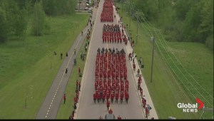 Sea of red in Moncton as hundreds of RCMP march to honour fallen