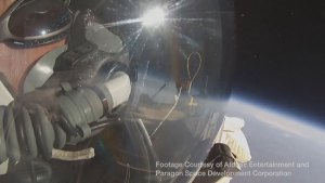 Google exec breaks world record with skydive from edge of space