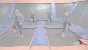 The Dufour-Lapointe sisters hit the trampoline