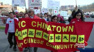 Hundreds rally to 'save' Calgary's Chinatown