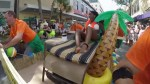 Footage of Floridians taking part in bed race in Key West