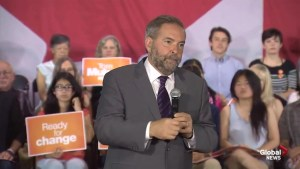 Tom Mulcair says aging population will be one of the biggest issues facing next PM