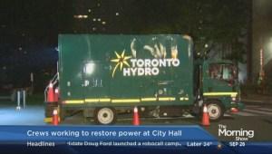 Update on power restoration at Toronto City Hall