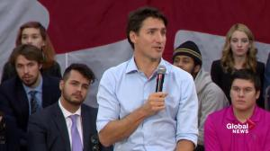Trudeau Calgary Town Hall: need a constructive relationship with U.S.