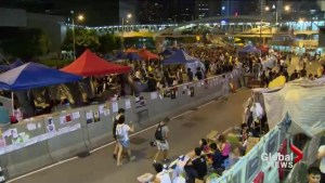 Protesters in Hong Kong defying government to end week-long protests