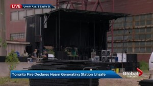 "City of Toronto declares historic Hearn Generating Station ""unsafe"" for public events"
