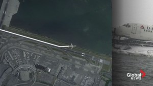 Tracking the course of the plane which skidded off the runway at LaGuardia