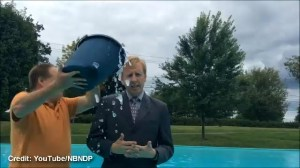 N.B. NDP leader takes ice bucket challenge