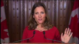 Freeland says US/Canada dairy trade is unbalanced – in US favour