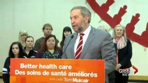 NDP Leader Thomas Mulcair stops in Lethbridge