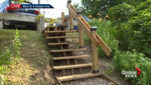 Toronto senior builds stairs in park after city pegs cost at over $65K