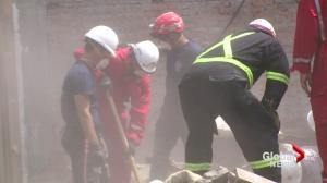 Firefighters helping out with earthquake relief in remote Nepal