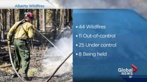 Alberta wildfire situation Wednesday night