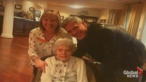 George Clooney makes elderly fan's day by making a surprise visit to her assisted living facility