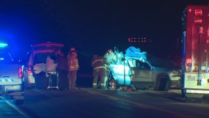 Man and boy killed in crash east of Taber