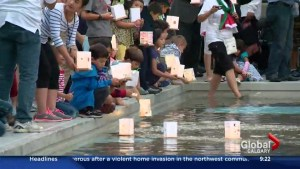 The Lantern Festival honours bombing anniversary of Hiroshima
