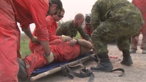 Canadian Forces reservists contribute engineering, medical, and fire suppression aid to battle Saskatchewan wildfires