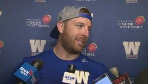 RAW: Winnipeg Blue Bombers Matt Nichols Postgame