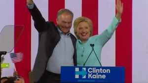 Hillary Clinton introduces Tim Kaine as running mate