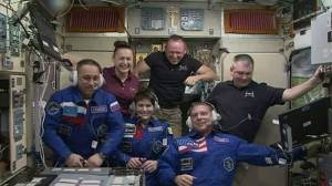 Astronauts receive warm welcome at ISS
