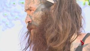 N.B. sculptor training with a master aboriginal sculptor