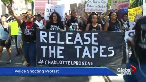 Charlotte protests remaining calm after police release video
