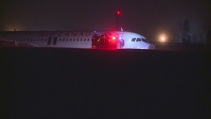 Raw video: Air Canada flight 624 off runway at Halifax Airport