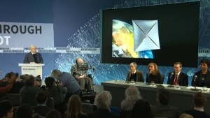 Hawking heads joins project to send miniature spaceships to distant stars